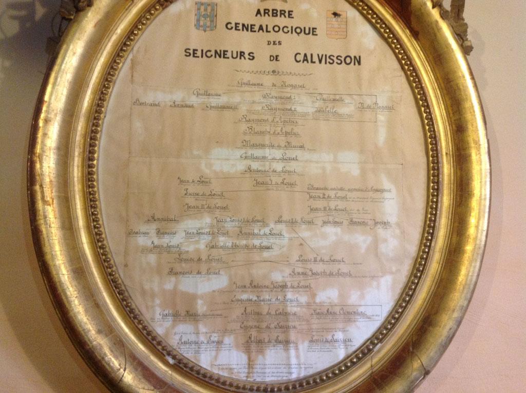 Et pour terminer la visite, la généalogie de Guillaume de Nogaret.