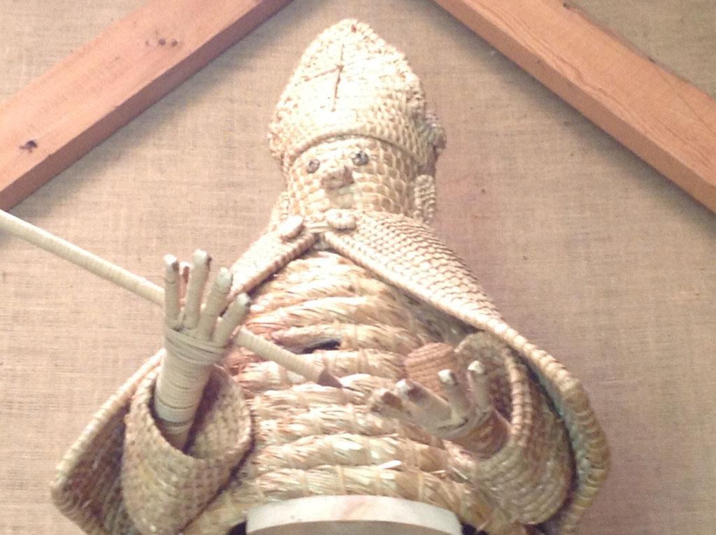 Accueil par Saint Ambroise, patron des apiculteurs.