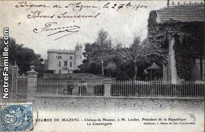 Le chateau dit Chateau Loubet à la Bégude de Mazenc.