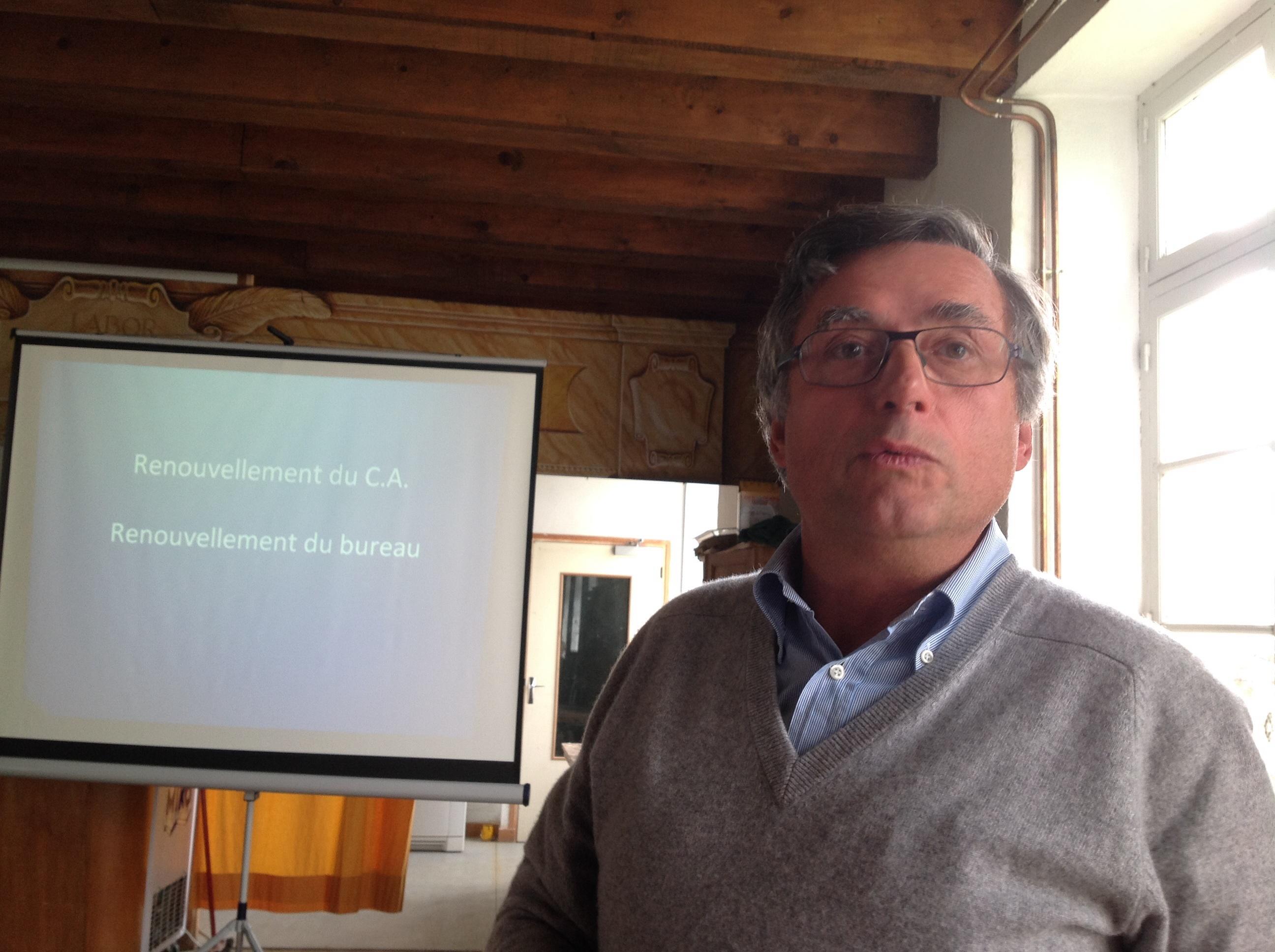 Et voilà notre nouveau président : Patrice Natier qui va donc succéder à Jean- Marc.