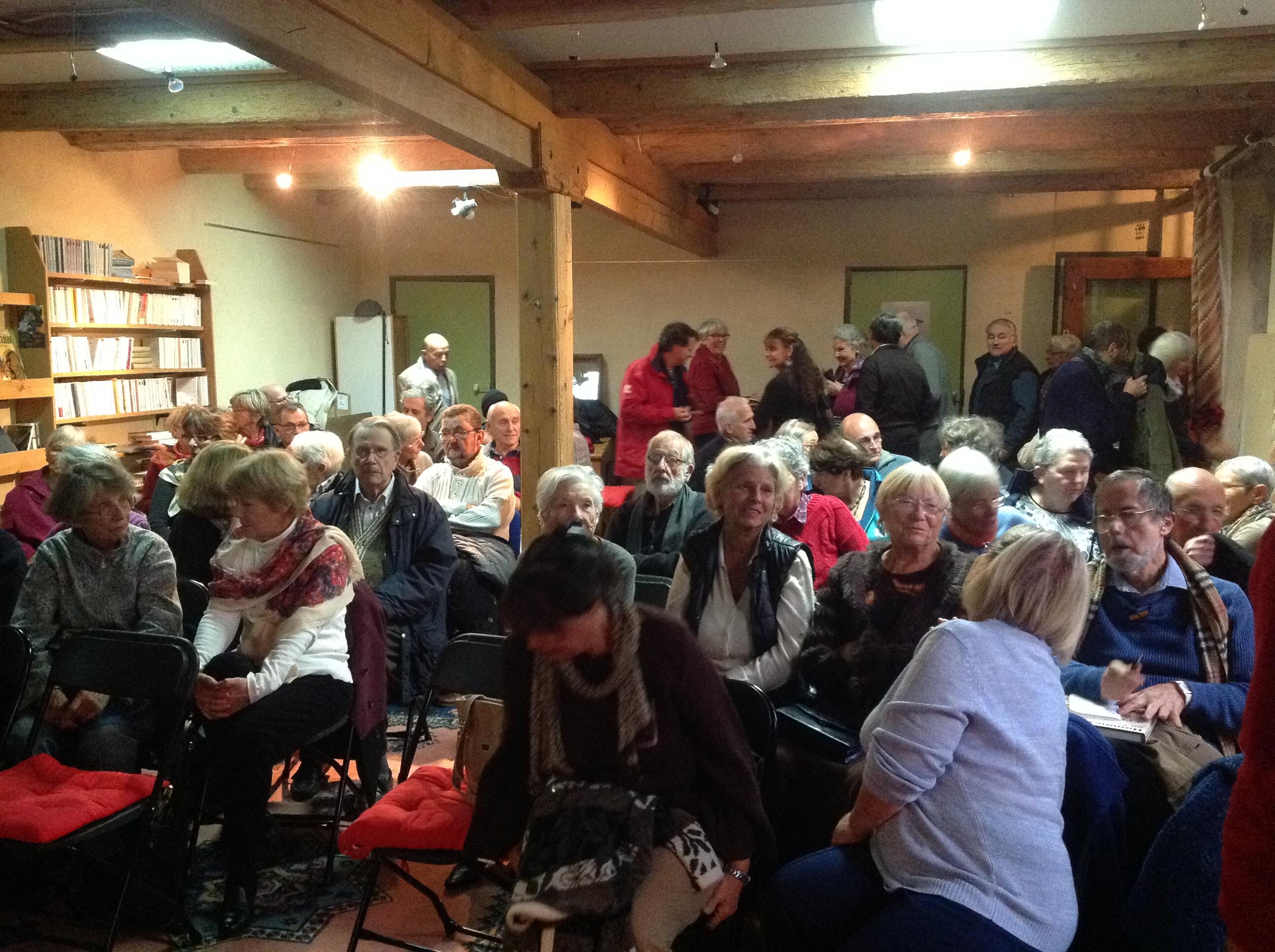 Le 18.11.2014, Archimède a fait archi comble : 70 personnes sont venues écouter Jean-Marc !