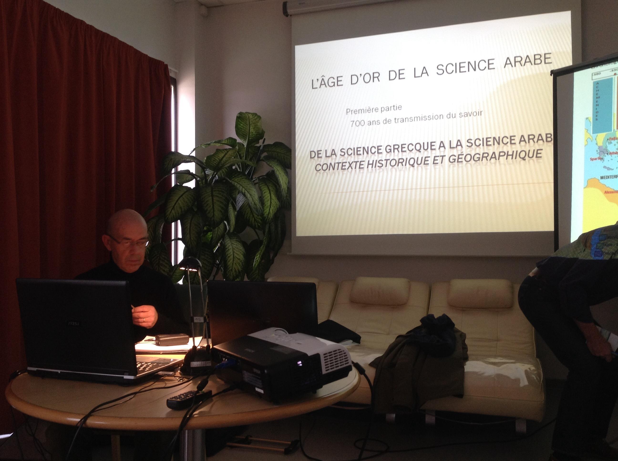 Le 24.2.15, Jean-Marc Fournier nous a passionné sur l'âge d'or de la science arabe.