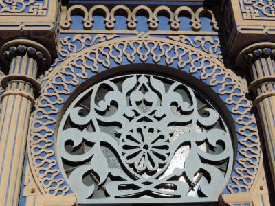Un détail de la façade