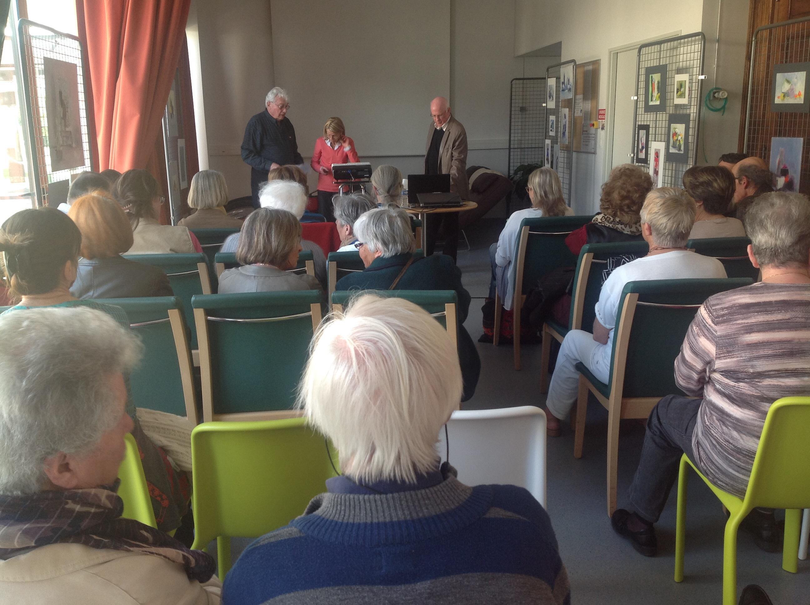 conférence de Michel Wullschleger, à Dieulefit-Santé sur les cisterciens et les chartreux du vercors