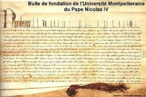 bulle de fondation université montpellier 1289
