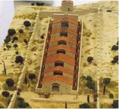 Maquette de la meunerie de BARBEGAL